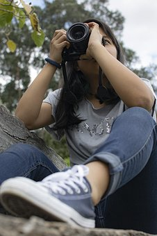 Taking Photo, Girl, Photographer, Camera, Person