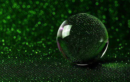 Crystal Ball-photography, Bokeh, Green, Glitter, Ball