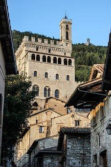 Glimpse, Historian, Borgo, Ancient, Gubbio, Umbria