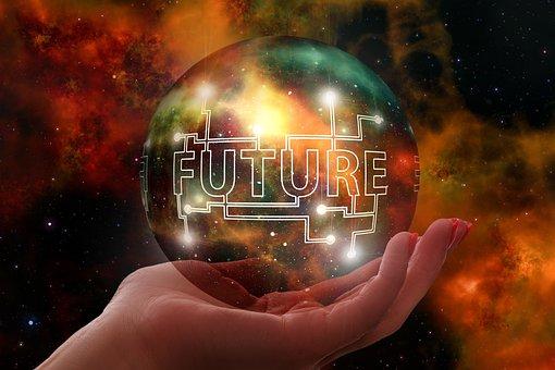 Forward, Hand, Keep, Soap Bubble, Universe, Galaxy