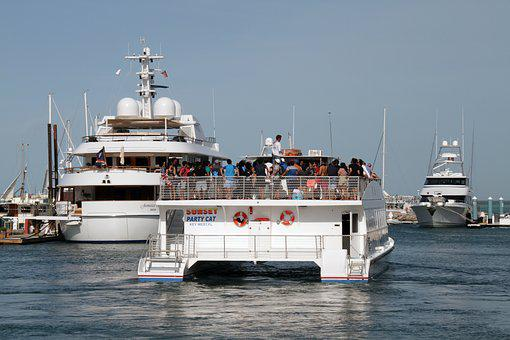 Key West, Boat, Party, Florida, Vacation, Tourism