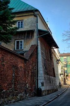 Kraków, Lake Dusia, Street, City, The Old Town, House