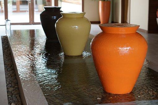 Fountain, Landscape, Reception, Indoor Interior