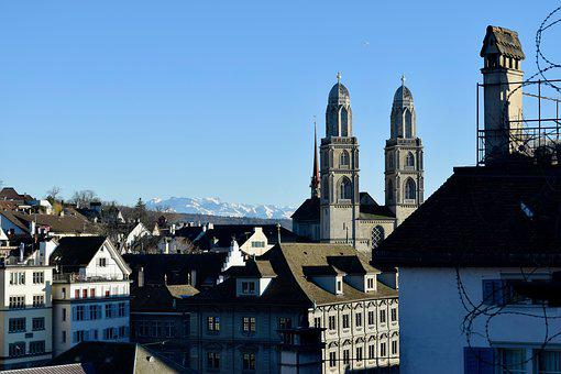 Zurich, Switzerland, Swiss, Landscape, City