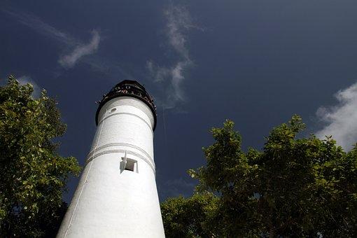 Key West, Lighthouse, Structure, Historic, Landmark