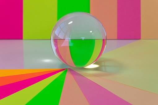 Glass Ball, Colorful, Ball, Magic, Mirroring, Round