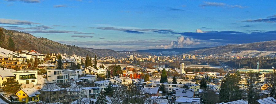 Landscape, Limmattal, Morning Sun, Winter, Killwangen