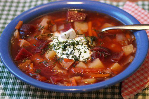 Russian, Borscht, Soup, Rich, Nutritious, Lunch