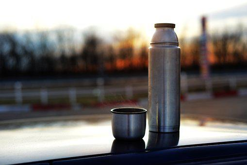 Dawn, Thermos, Journey, Calm, Nature, Panorama, Sunrise