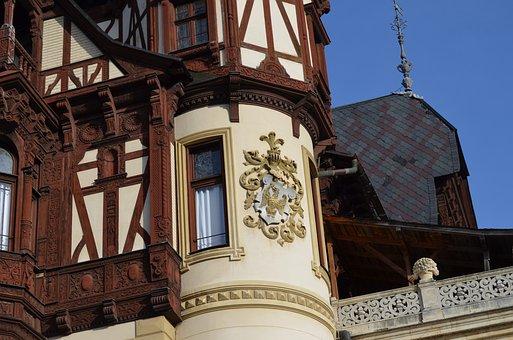 Castle, Eagle, Architecture, Royal, Symbol, Peles