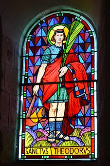 Stained Glass, Man, Church, Color, Religion, Portrait
