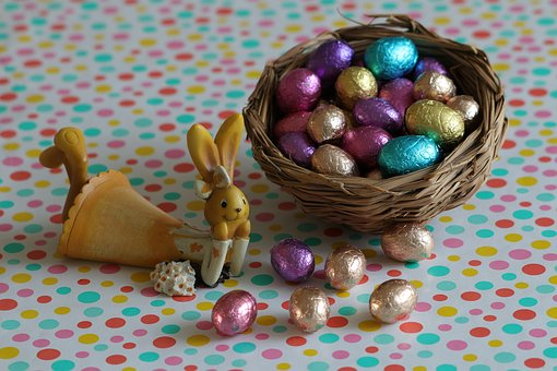 Easter, Easter Decoration, Eggs, Rabbit, Colorful