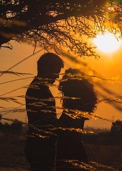 Couple, Sunset, Love, Romantic, Romance, People