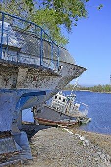 Ship, Water, Meteor, Port, Landscape, Old
