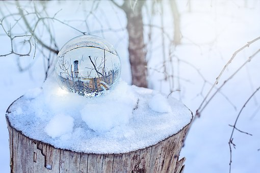 Crystal Ball, Snow, Winter, Snowy, Woods, Magic, Wintry