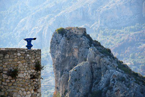 Landscape, Mountain, Spain, Guadalest, Cliff, Panorama