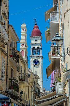Corfu Town, Kerkyra, Historic Center, Steeple