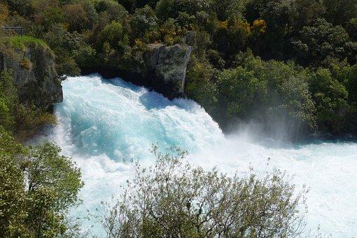 New Zealand, Taupo, Huka Falls, Waikato River