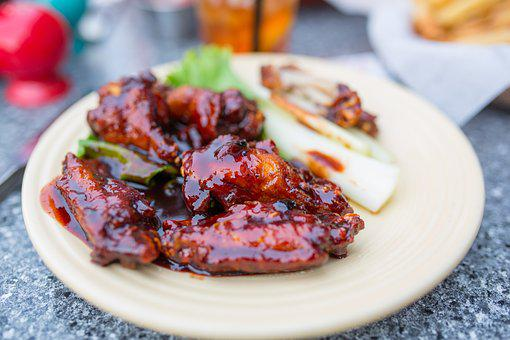Wings, Bbq, Barbecue, Chicken, Food, Meat, Delicious