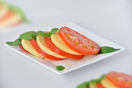 Salad, Tomato, Basil, Healthy, Red, Green, Vegetables