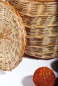 Basket, Braided, Jewelry, Brown Jewelry