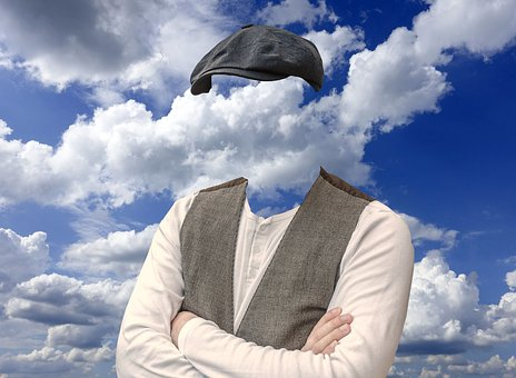 Man, Blank, Clouds, Cap, Without, Cloud-cuckoo-land