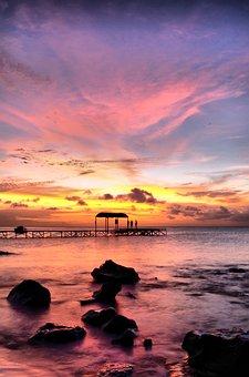 Sea, Water, Sunset, Ocean, Sky, Dusk, Nature, Clouds