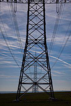 Strommast, Energy, Electricity, Current, Power Supply