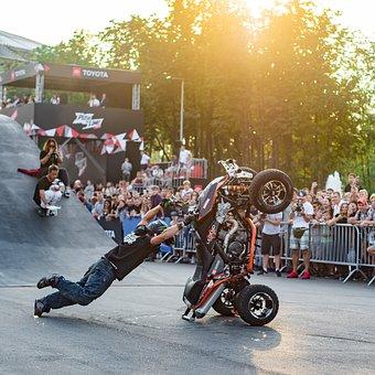 Luzhniki, Quad Bike, Festival, Viewers, People, Tricks