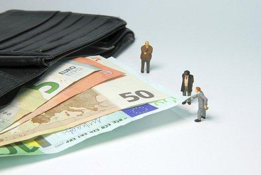 Tax Office, Fine, Miniature Figures, Pension, Money