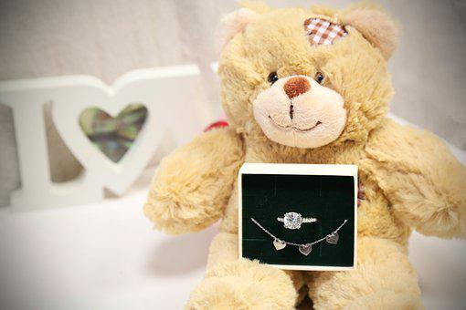 Teddy, Jewellery, Love, Gift, Present