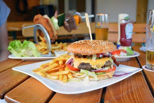 Hamburger, French, Burger, Food, Cheeseburger