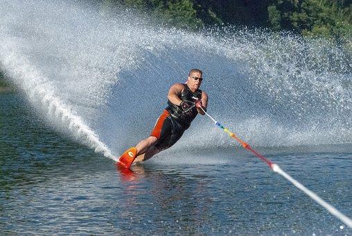 Sports, Waterskiër, Water Skiing, Holiday, Water, Speed