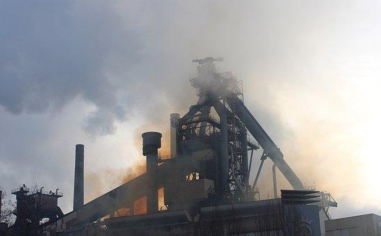 Eisenwerk, Industry, Blast Furnace, Silhouette