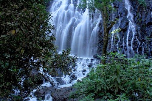 Waterfall, Water, Long Exposure, Landscape, Stream