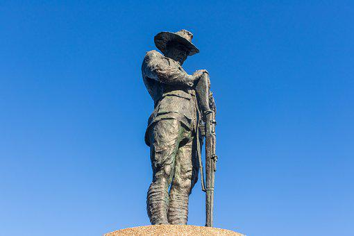 Anzac, Day, Soldier, Memorial, Remembrance, War