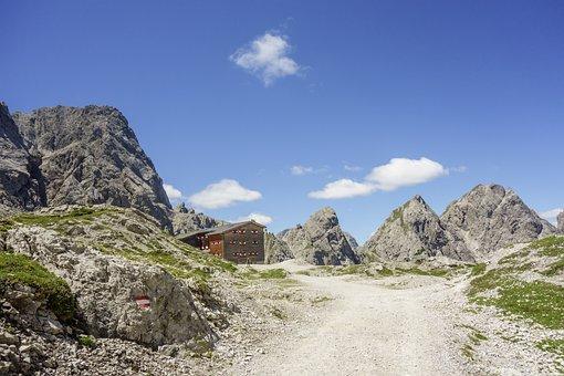 Mountains, Refuge, Alpine, Nature, Hiking, Landscape
