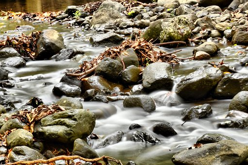 River, Rock, Water, Nature, Landscape, Waterfall