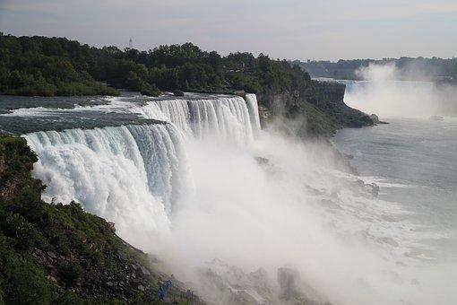 Waterfall, Water, Niagara, Nature, Landscape, River