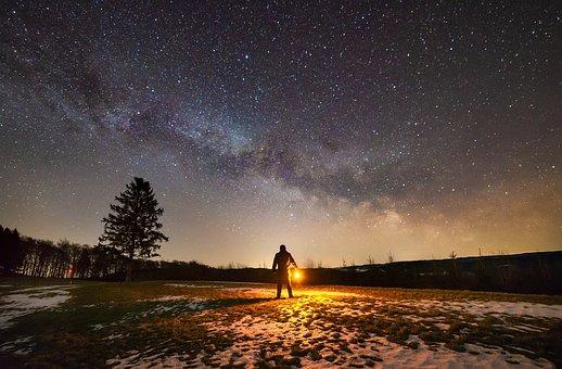 Milky Way, Night, Alone, Fear, Dark, Star, Starry Sky