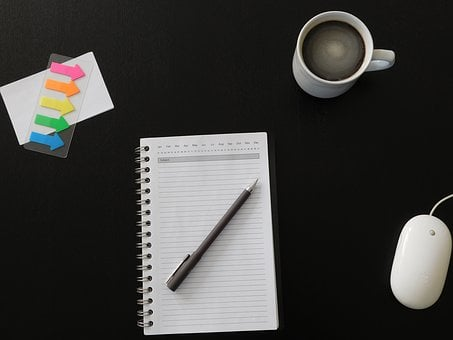 Notes, Desktop, Office, Business, Table, Coffee