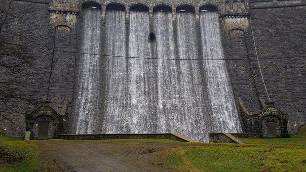 Dam, Overflow, Barrier Wall, Germany, Oestertalsprre