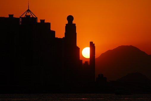 Solar, Glow, Sunset, Sea, Sky, Sun, In The Evening