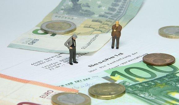Tax Office, Tax Assessment, Miniature Figures, Money