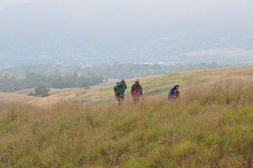 Trekking, Lombok, Rinjani, Mountain, Volcano, Outdoor