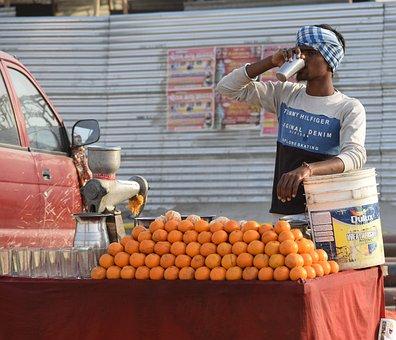 Fruit, Vendor, Juice, Market, Food, Fresh, India