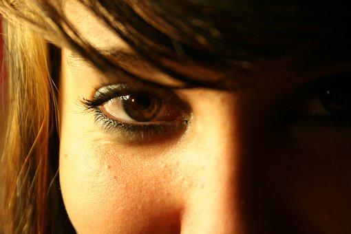 Eye, See, Vision, Woman, Look, Watch, Human, Awareness