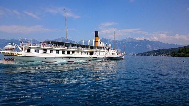 Boat, Lake, Water, Cruise, Geneva, Wave, Navigation
