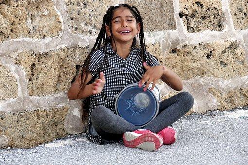 Woman, A Muslim Woman, Arabian Mare, The Little Girl