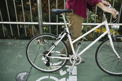 Active, Adjust, Adult, Alone, American, Beard, Bicycle